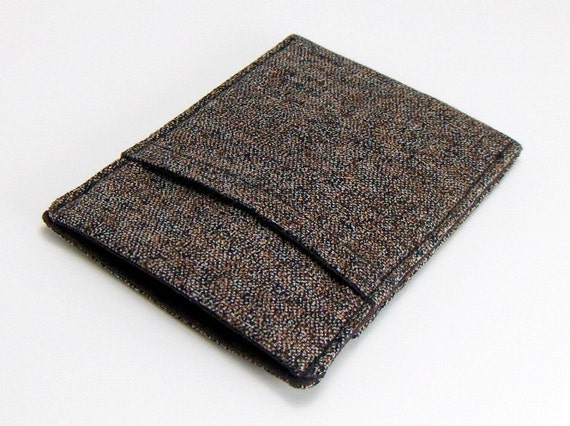 Thin Pocket Wallet  For Men / Brown Tweed