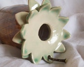 Soft Green and brown pineapple Bird Bottle