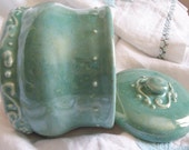 Robin's Egg Blue Swirly Jar