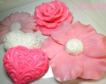 Flowers Soap Set of 5 pieces