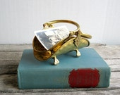 Vintage Tiny Brass Footed Baskets