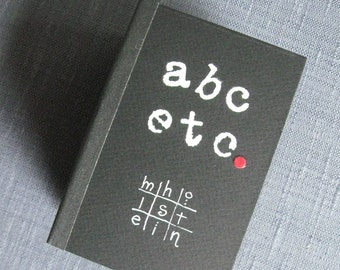 Artist Book ABC ETC collaged ribbon letters