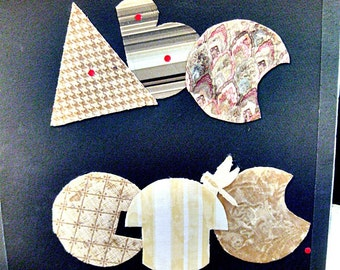 Artist book--ABC, ETC.  collaged fabric letters