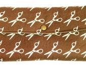 CLEARANCE - Clutch/Makeup Bag - Scissors