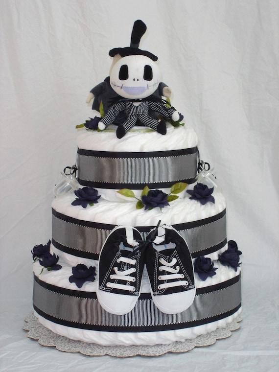 Boys 3 Tier Jack Skellington Diaper Cake By Restlessartist