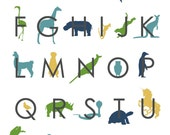 A to Z Animal Silhouettes PRINTABLE