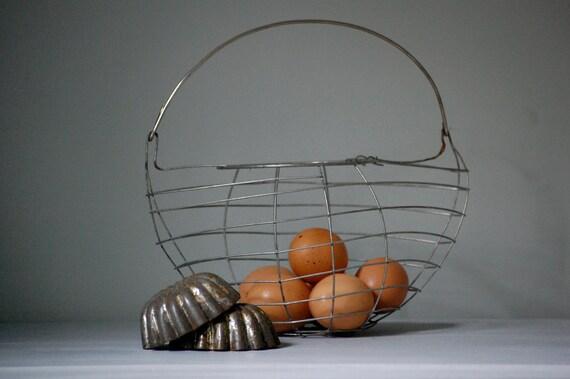 Vintage Egg Gathering Basket