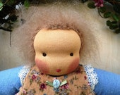 Rosebud Waldorf Doll with Pinafore 10 inch 20% Off Sale