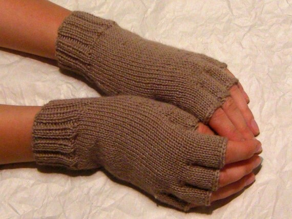 20% OFF Knitted Fingerless Gloves (Wrist Warmers, Arm Warmers, Fingerless Mittens, Fingerless Mitts) - Subdued tone