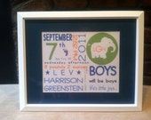 On The Day You Were Born Prints, Boys, Elephant