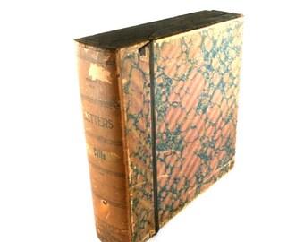 Vintage File Box Letters Bills Sorter
