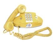 Retro Happy Yellow Vintage Bell Princess Telephone