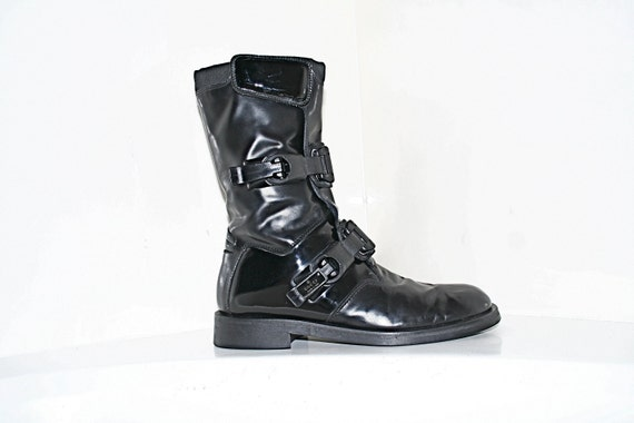 RESERVED for jeremyhernandez // Gucci // Moto Goth Industrial Mad Max Combat Buckle Boots