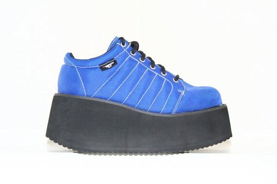 Blue Mega Platform Sneakers //  7.5