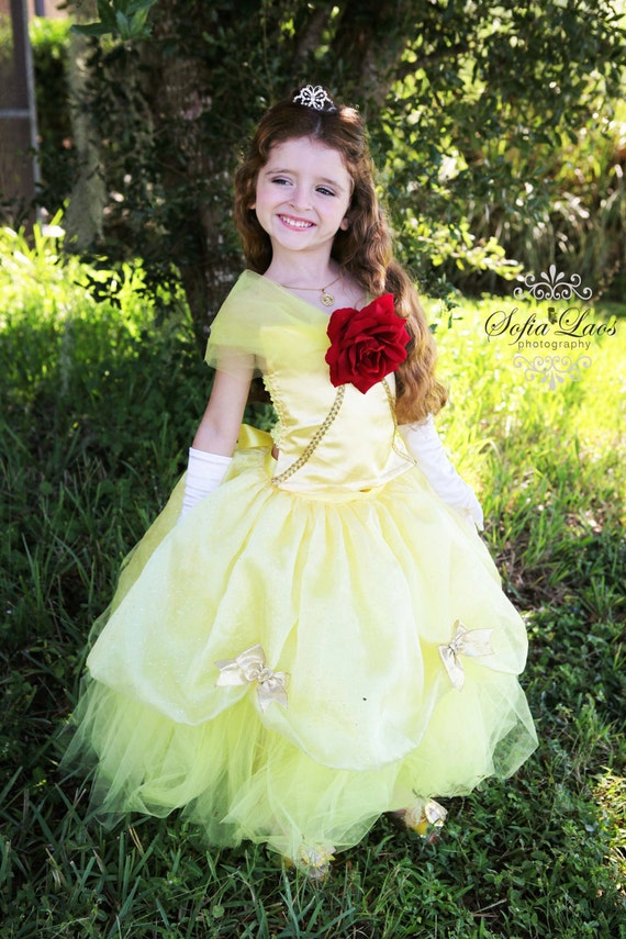 Items Similar To Belle Inspired Tutu Dress Perfect For