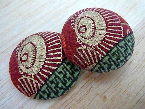 Safina - Button Earrings