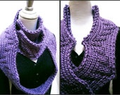 Hand Knitting PDF Pattern for Chunky Scarf  Reversible Design  Very Versatile 'Arc of the Hypotenuese'