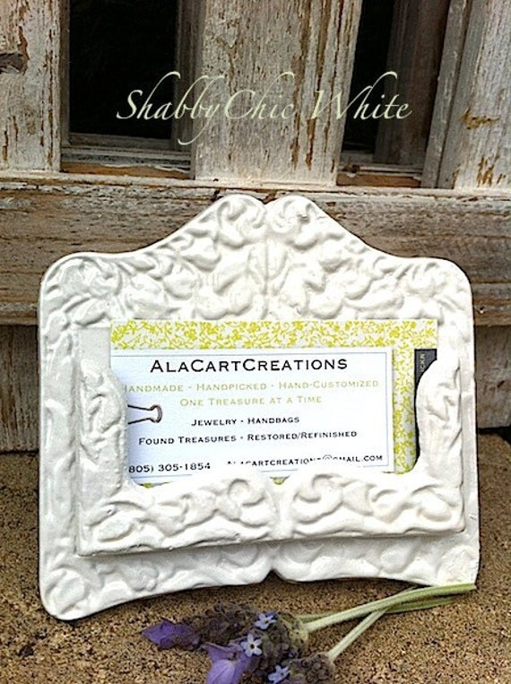 Items similar to wedding rustic chic business card for Chic business card holder