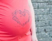 Crimson Love Baby Dress Tee Cute Maternity Wear