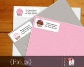 Cupcakes Return Address Label - Printable PDF File