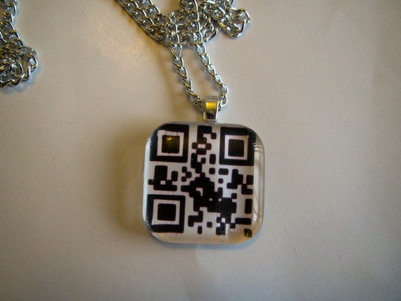 "Harry Potter ""Always"" QR Code Glass Pendant"