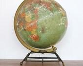 Vintage 1950s Replogle Paper Lithograph Globe