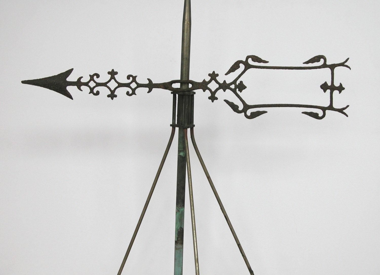 Antique Copper Weathervane And Arrow All Original