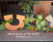 LUCKY...Word of the Month KIT