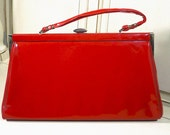 Vintage Lipstick Red Patent Leather Purse