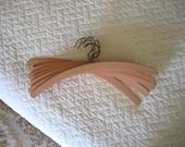 Vintage Wooden Clothes Hangers in Pastel Pink
