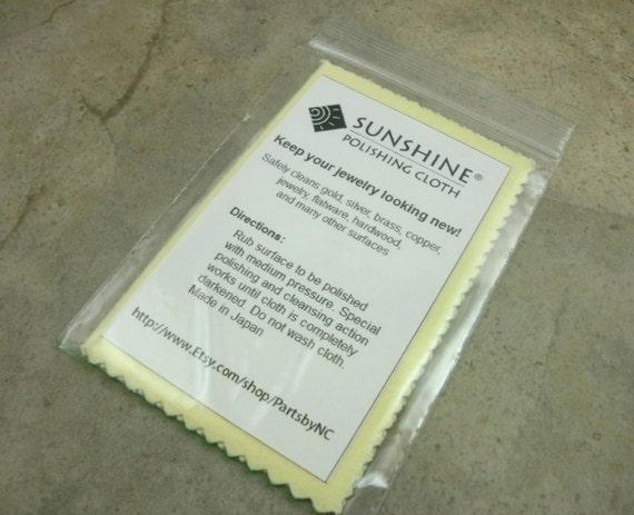 Sunshine Polishing Cloth- Jewelry Cleaner Polish- Sunshine Cleaning Cloth- Safe for Silver Gold Brass Copper Bronze Flatware Hardwood-