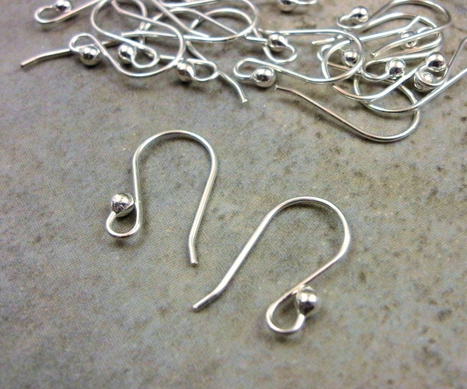 Sterling silver ear wires solid sterling findings for The sterling