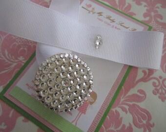 special occasion swarovski pacifier clip