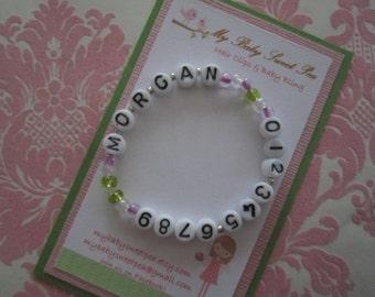 Childrens bracelet - childrens jewelry - Id bracelet - Id jewelry