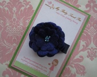Hair clips for girls - barrettes for girls - flower hair clips