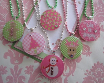 girls necklace - holiday necklace - christmas necklace