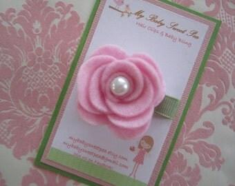 Hair clips for girls - girl barrettes - flower hair clips