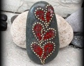 RESERVED 3 Valentine Hearts - Mosaic Rock Paperweight / Garden Stone