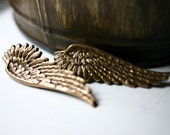 Angel Wing Earrings - Gold Post Stud