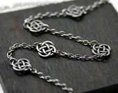 Celtic Knot Necklace in Antique Silver