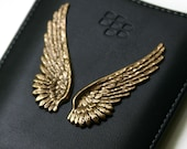 Blackberry Case with Gold Angel Wings Fits Curve  8300 8500 8900