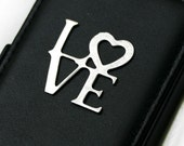 iPhone 4 Wallet - Black with LOVE Letters