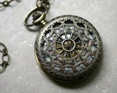 Mechanical Pocket Watch with Moving Gears - wind up