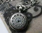 Steampunk Pocket Watch Necklace - Silver Mini-Maritime