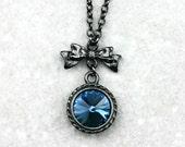 Blue Swarovski Crystal Rivoli Necklace