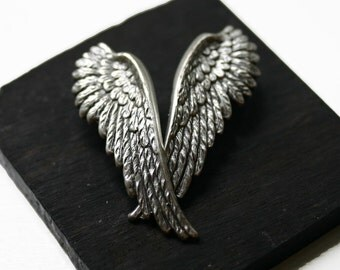 Silver Clip On Angel Wing Earrings
