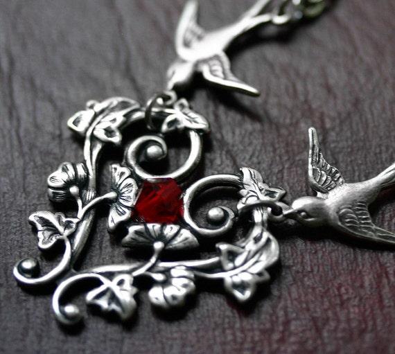 Victorian Bird Necklace