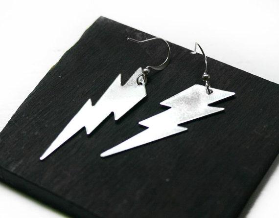 Ziggy Stardust Lightning Bolt Earrings