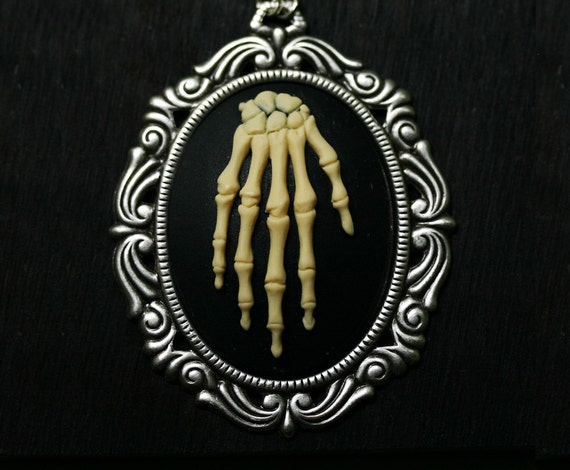 Skeleton Hand Cameo LARGE