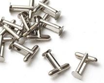 10 pcs (5 pairs) Silver Cufflink Findings Blank Backs Base Cuff Link Glue Pad 8mm, B1-001a